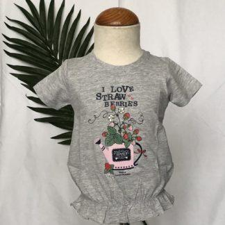 grijs shirt met aardbeien