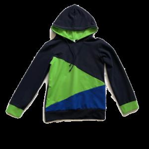 hoodie groen/blauw