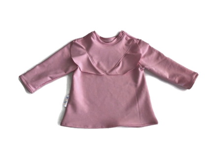 roze ruffle baby tuniek