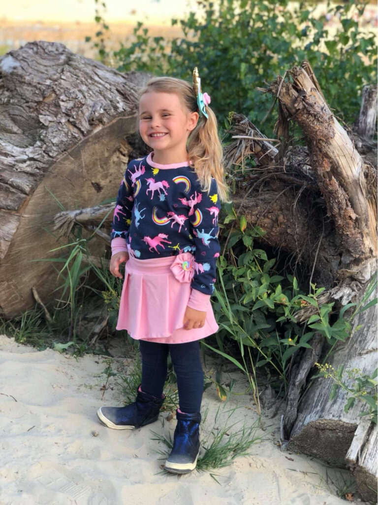 Meisjeskleding met eenhoorns