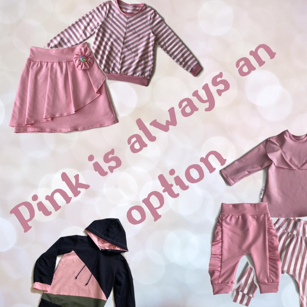 roze kinderkleding in de winter inspiratie