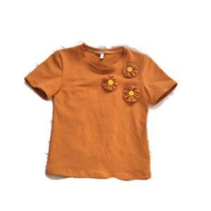 meisjes shirt okergeel