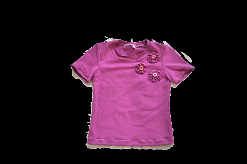 meisjes shirt violet