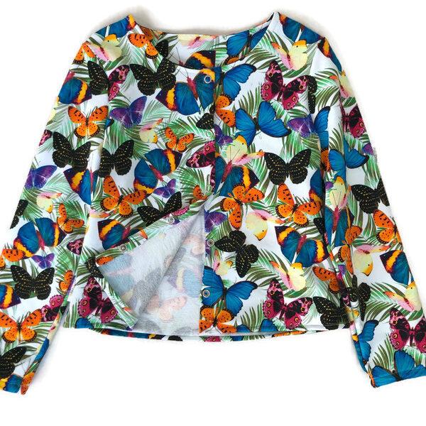 vest met vlinders