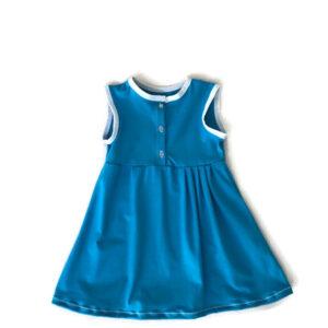 meisjes zomerjurk aquablauw