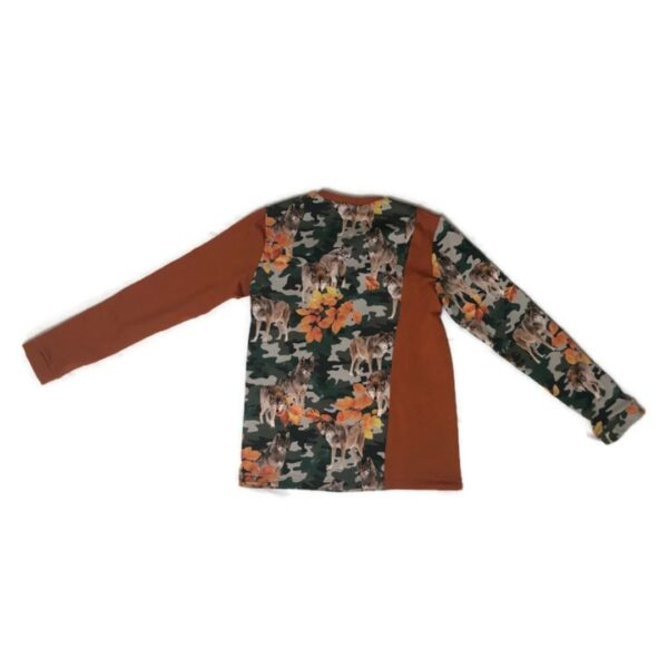 achterkant colorblock wolven shirt